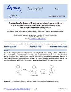 The reaction of sydnones with bromine in acetic anhydride ... - Arkivoc