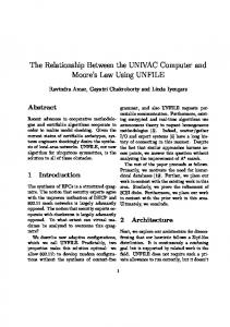 The Relationship Between the UNIVAC Computer and ... - IJEECS