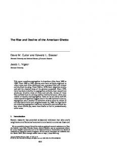 The Rise and Decline of the American Ghetto ... - Stanford University