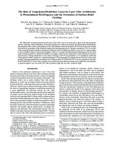 The Role of Azopolymer/Dendrimer Layer-by-Layer Film Architecture ...