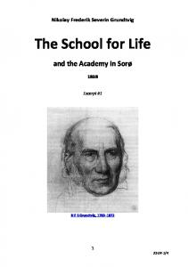 The School for Life, 1838