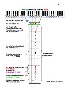 The Set Markers and the notes 4 -
