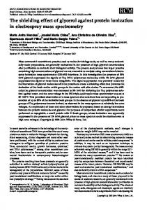The shielding effect of glycerol against protein ... - Wiley Online Library
