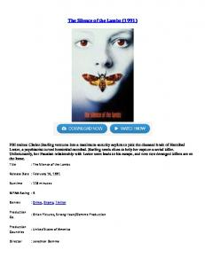 The Silence of the Lambs 1991.pdf