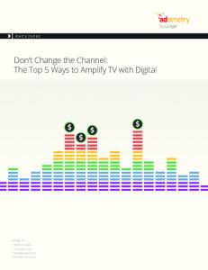 The Top 5 Ways to Amplify TV with Digital  Services
