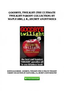 (The Ultimate Twilight Parody Collection) By Maple Siri ...