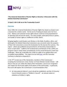 The Universal Declaration of Human Rights at Seventy