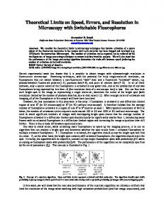 Theoretical Limits on Speed, Errors, and Resolution in ...