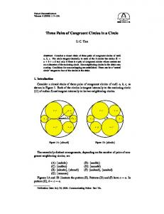 Three Pairs of Congruent Circles in a Circle