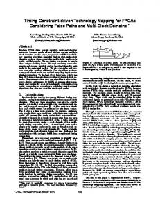 Timing Constraint-Driven Technology Mapping for ... - IEEE Xplore