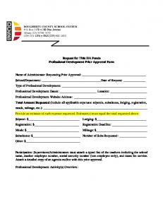 Title IIA Professional Development Prior Approval Request Form for ...