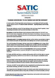 Tourism Conference to Help Grow Our Visitor Economy - SATIC
