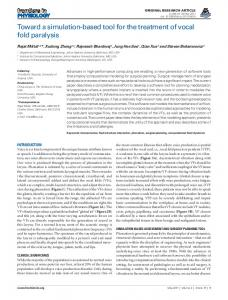 Toward a simulation-based tool for the treatment of ... - ScienceOpen