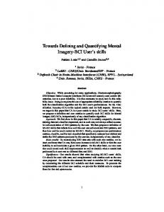 Towards Defining and Quantifying Mental Imagery-BCI ...
