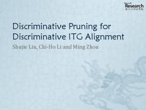 Trainable Pruning Model for ITG Parsing
