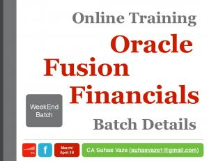 TRAINING BATCH - Online WeekEnd Batch 6 Days - Oracle Fusion ...