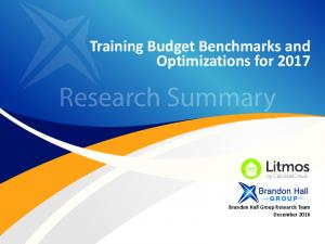Training Budget Benchmarks and Optimizations for 2017 ... - Litmos