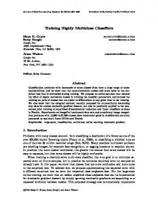 Training Highly Multiclass Classifiers - Journal of Machine Learning ...