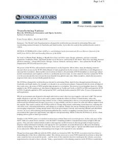 Transforming Nations Page 1 of 5