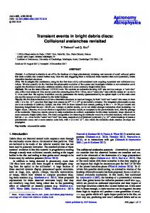 Transient events in bright debris discs ... - Astronomy & Astrophysics