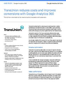 TransUnion reduces costs and improves ...  services