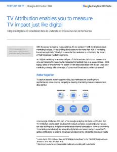TV Attribution enables you to measure TV impact ...  Services