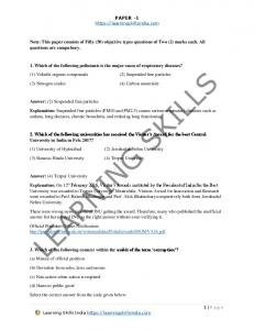 UGC NET Paper 1 - 5th November 2017 - Question Paper and ...