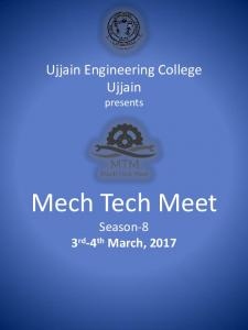 Ujjain Engineering College Ujjain presents Mech ... -