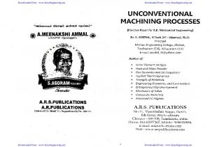 Unconventional Machining Process Local Author- By ...