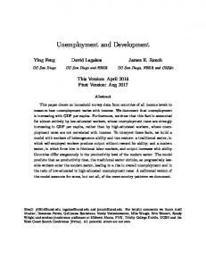 Unemployment and Development