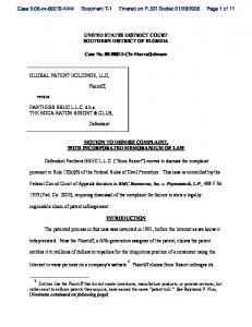 UNITED STATES DISTRICT COURT SOUTHERN ...