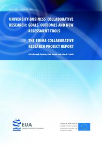 university-business collaborative research: goals, outcomes and new ...