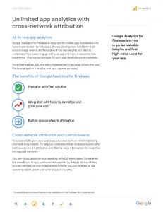 Unlimited app analytics with cross-network attribution  services