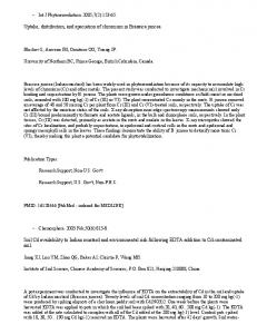 Uptake, distribution, and speciation of chromium in ...