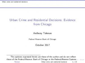 Urban Crime and Residential Decisions