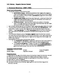 US-Regents Review packet - John Dewey High School