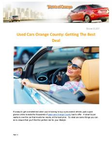 Used Cars Orange County- Getting The Best Deal.pdf