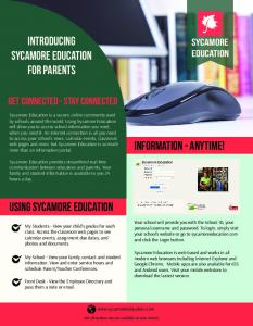 Using sycamore education information - anytime ... -