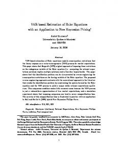 VAR-based Estimation of Euler Equations with an ... - André Kurmann