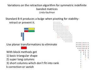 Variations on the retraction algorithm for symmetric ...