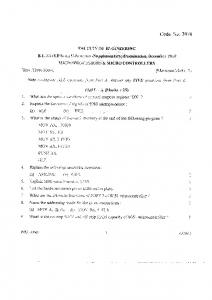 Vasavai CE B.E EE 3rd Year Dec 2010 Microprocessors and ...