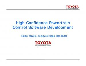 Verification of Engine Control Software -