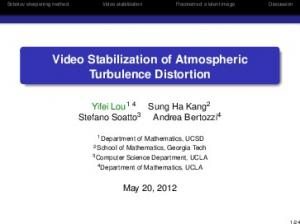 Video Stabilization of Atmospheric Turbulence Distortion