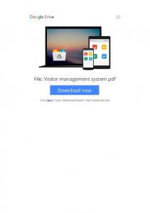 visitor management system pdf