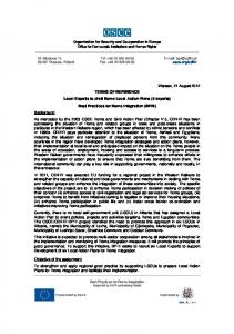 Warsaw, 21 August 2012 TERMS OF REFERENCE ... -