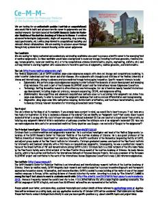 We are looking for an enthusiastic postdoc (wet-lab or computational ...