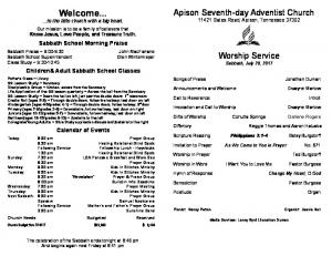 Welcome... - Apison - Apison Seventh-day Adventist Church