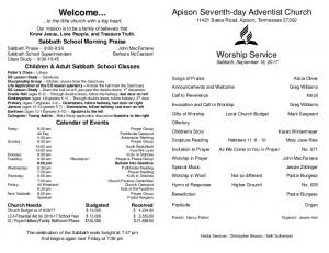 Welcome... - Apison Seventh-day Adventist Church