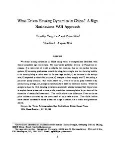 What Drives Housing Dynamics in China? A Sign ... - Semantic Scholar