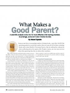 What Makes a Good Parent - Faith Formation Learning Exchange